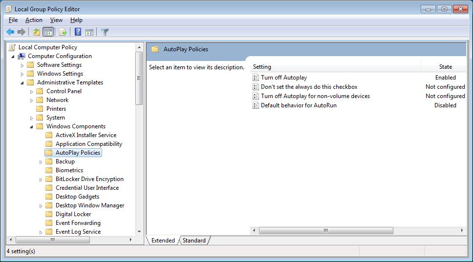 Advisory | How to disable Autorun/AutoPlay?